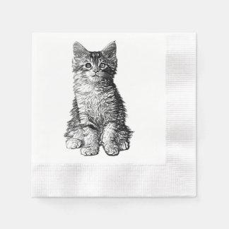 Niedliches kleines Kätzchen Serviette