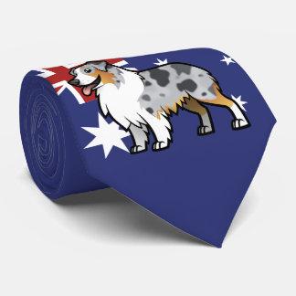 Niedliches kundengerechtes Haustier auf Krawatte