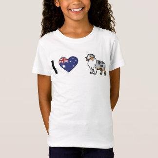Niedliches kundengerechtes Haustier auf T-Shirt