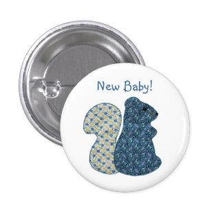 Niedliches Land-Art-blaues Eichhörnchen-neues Baby Runder Button 3,2 Cm