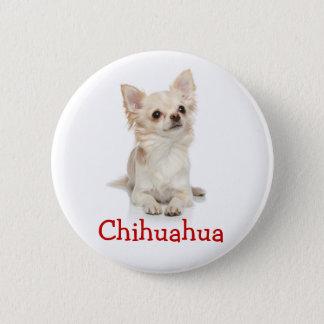 Niedliches langhaariges Chihuahua-Knopf-Button Runder Button 5,1 Cm