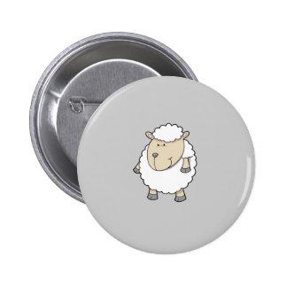 Niedliches lustiges entzückendes Schafmonogramm Runder Button 5,1 Cm