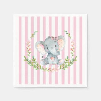 Niedliches Mädchen-Elefant-Baby Showert Papierservietten