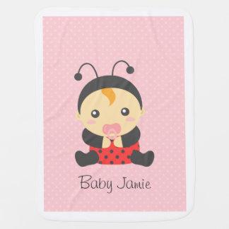 Niedliches Marienkäfer-Baby-Mädchen, für Babydecke