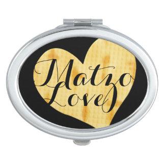 Niedliches Matzah-Anerkennungs-Sprichwort Taschenspiegel