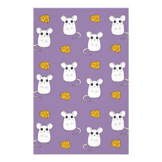 Niedliches Mäusemuster Briefpapier