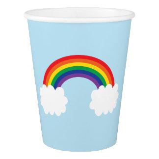 Niedliches Regenbogen-Party Pappbecher