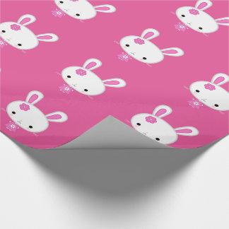 Niedliches rosa Kawaii Häschen Geschenkpapier