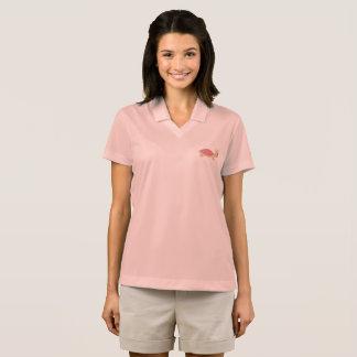 niedliches Schildkröterosafrauen-Rosa-Shirt Polo Shirt