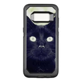 Niedliches schwarze Katzen-Porträt OtterBox Commuter Samsung Galaxy S8 Hülle