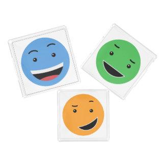Niedliches smileybehälter-Set 1/2 Acryl Tablett