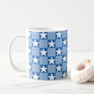 Niedliches Sternschachbretmuster Kaffeetasse