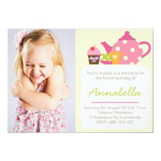 Niedliches Tee-Party scherzt 12,7 X 17,8 Cm Einladungskarte
