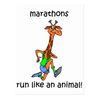 Niedliches und lustiges Marathon Postkarten