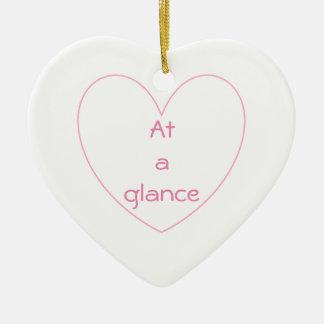 Niedliches und reizendes Herz beschriftet Keramik Ornament