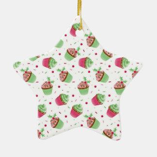 Niedliches und süßes Weihnachten farbige kleine Keramik Stern-Ornament