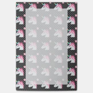 Niedliches Unicorns-Blume Emoji Polka-Punkt-Muster Post-it Klebezettel