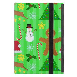 Niedliches Weihnachtscollagen-Feiertags-Muster Hülle Fürs iPad Mini