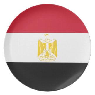 Niedrige Kosten! Ägypten-Flagge Flache Teller