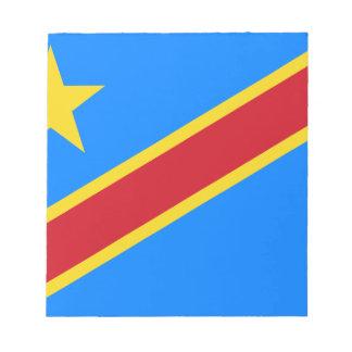 Niedrige Kosten! Der Kongo-Flagge Notizblock