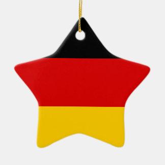 Niedrige Kosten! Deutsche Flagge Keramik Stern-Ornament