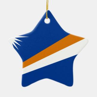 Niedrige Kosten! Die Marshallinseln-Flagge Keramik Stern-Ornament