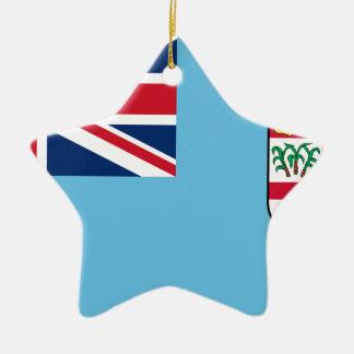 Niedrige Kosten! Fidschi-Flagge Keramik Stern-Ornament