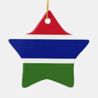 Niedrige Kosten! Gambia-Flagge Keramik Ornament