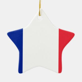 Niedrige Kosten! Guadeloupe-Flagge Keramik Stern-Ornament