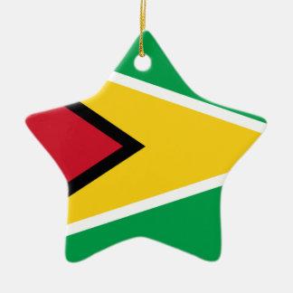 Niedrige Kosten! Guyana-Flagge Keramik Ornament