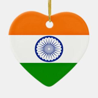 Niedrige Kosten! Indien-Flagge Keramik Herz-Ornament