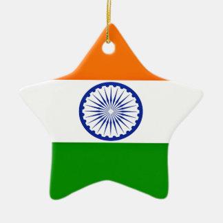 Niedrige Kosten! Indien-Flagge Keramik Stern-Ornament