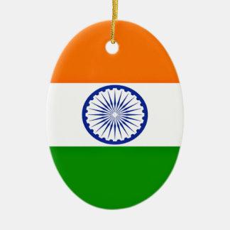Niedrige Kosten! Indien-Flagge Ovales Keramik Ornament