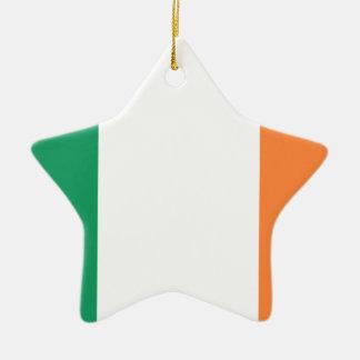 Niedrige Kosten! Irland-Flagge Keramik Stern-Ornament