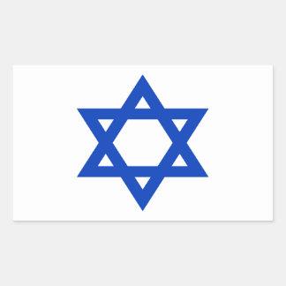 Niedrige Kosten! Israel-Flagge Rechteckiger Aufkleber