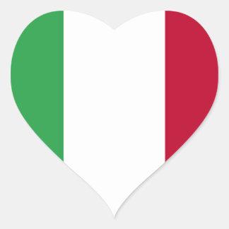 Niedrige Kosten! Italien-Flagge Herz-Aufkleber
