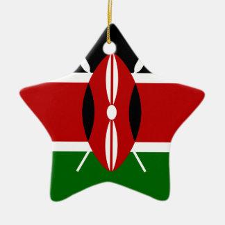 Niedrige Kosten! Kenia-Flagge Keramik Ornament