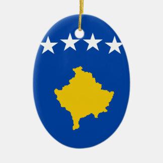 Niedrige Kosten! Kosovo-Flagge Keramik Ornament