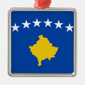 Niedrige Kosten! Kosovo-Flagge Silbernes Ornament