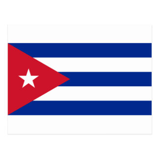 Niedrige Kosten! Kuba-Flagge Postkarte