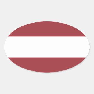 Niedrige Kosten! Lettland-Flagge Ovaler Aufkleber
