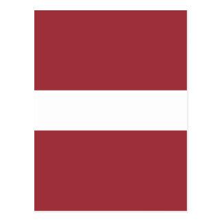 Niedrige Kosten! Lettland-Flagge Postkarte