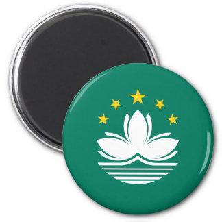 Niedrige Kosten! Macao-Flagge Runder Magnet 5,1 Cm