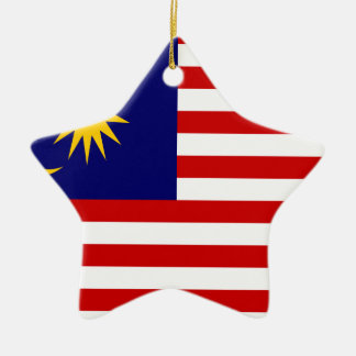 Niedrige Kosten! Malaysia-Flagge Keramik Stern-Ornament