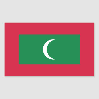 Niedrige Kosten! Malediven-Flagge Rechteckiger Aufkleber
