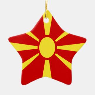 Niedrige Kosten! Mazedonien-Flagge Keramik Ornament