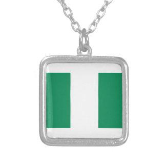 Niedrige Kosten! Nigeria-Flagge Versilberte Kette