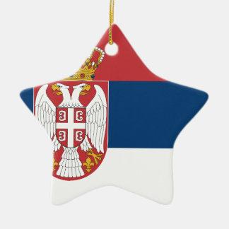 Niedrige Kosten! Serbien-Flagge Keramik Ornament