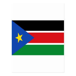 Niedrige Kosten! Südsudan-Flagge Postkarte