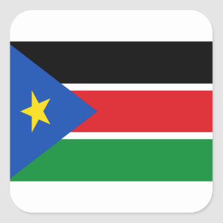 Niedrige Kosten! Südsudan-Flagge Quadratischer Aufkleber